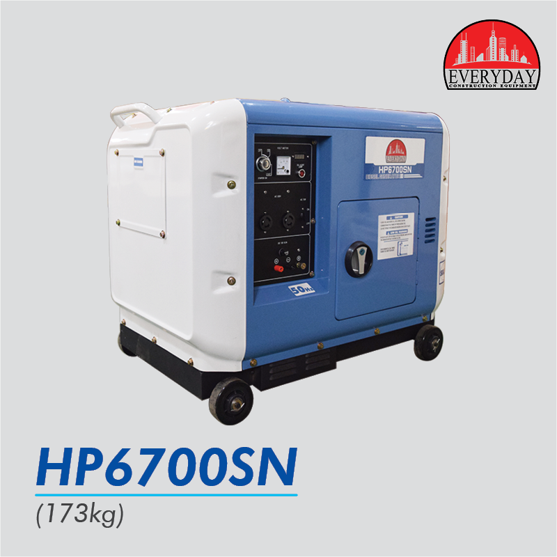 everyday super silent diesel genset hp6700sn