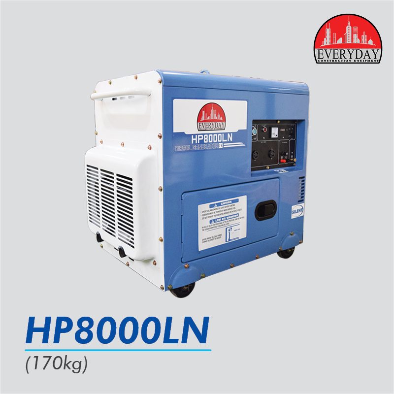 everyday silent diesel genset hp8000ln